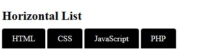 list in html