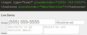 Placeholder in HTML5 Forms