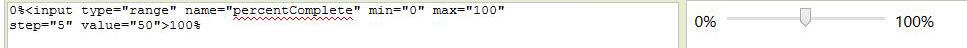 HTML5 Range TYPE