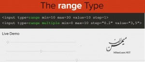 Range Type in HTML5