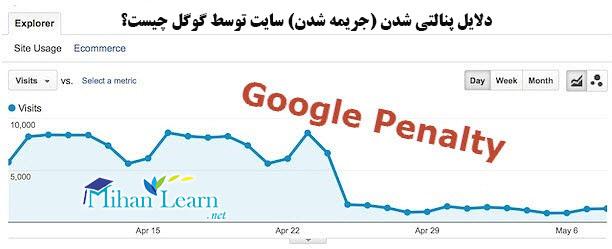 دلیل پنالتی شدن سایت توسط گوگل