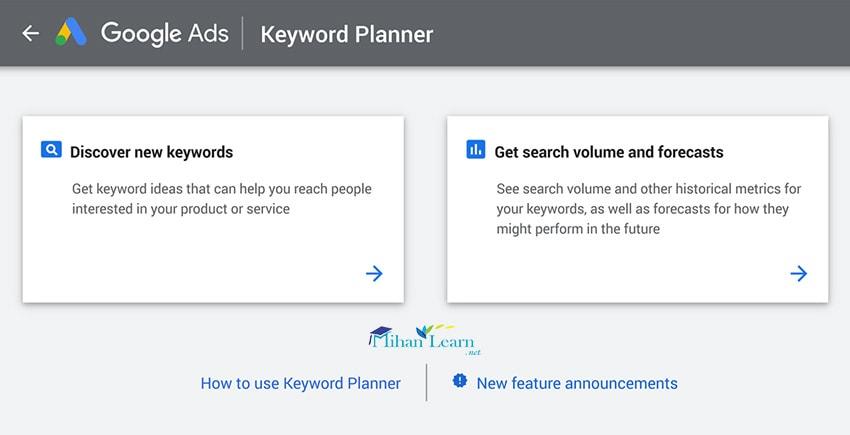 Google Keyword Planner for Keyword Research