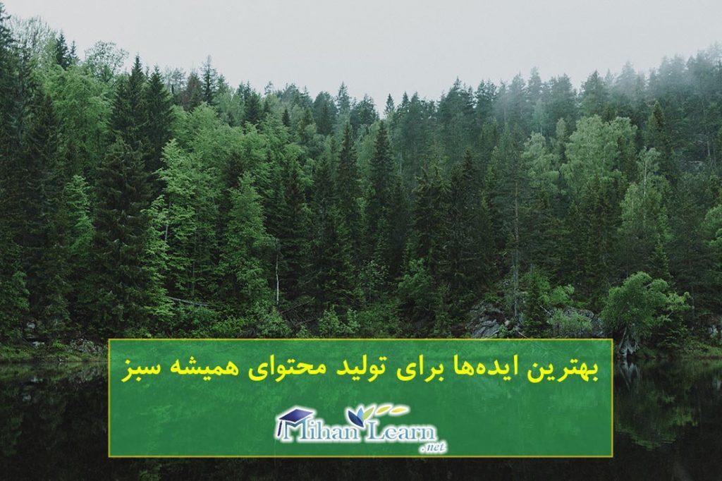 ایده تولید محتوای همیشه سبز